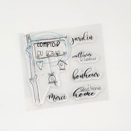 Tampons transparents Panneau - 6 pcs
