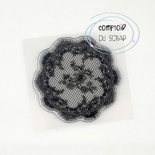 Tampon transparent Rond dentelle