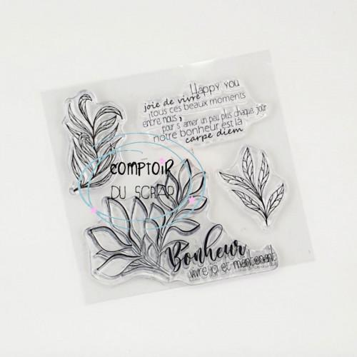 Tampons transparents Happy you - 4 pcs