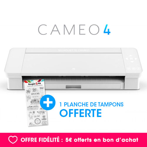 ** PRIX EN BAISSE ** Machine de découpe électronique CAMEO 4 + 1 planche de tampons offerte