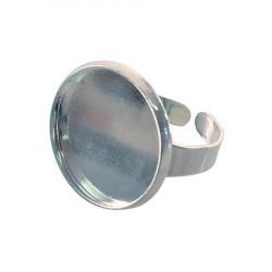 Bague ronde creuse - Argent - 20 mm de diamètre
