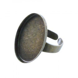 Bague ovale creuse - Bronze - 18 x 25 mm