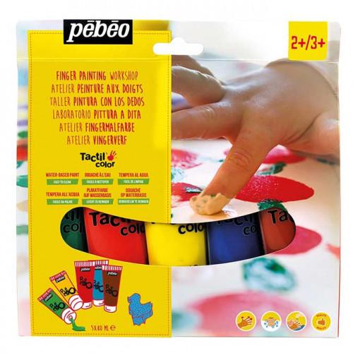Atelier Peinture aux doigts Tactilcolor - 5 tubes de 80 ml