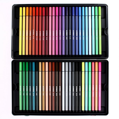 Feutres Stabilo Pen 68 - 50 couleurs assorties