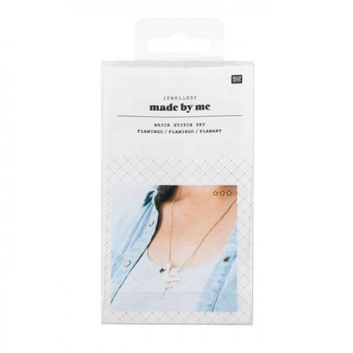 Kit de tissage de perles - Collier flamand rose