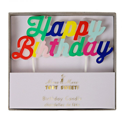 Bougie - Happy Birthday - Multicolore
