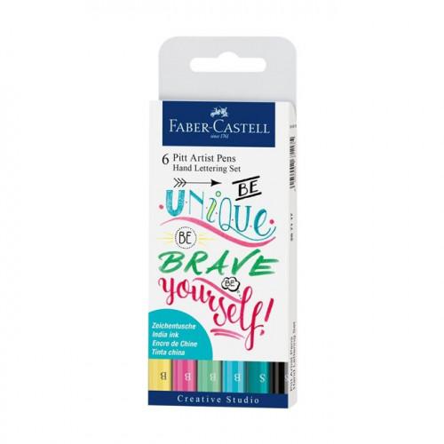 6 feutres Pitt artist Pen Lettering Pastels