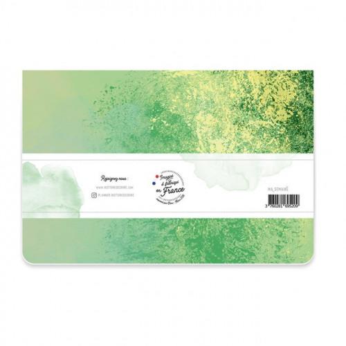 Semainier vert non daté - 24 x 16 cm