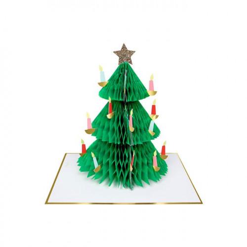 Carte Sapin de Noël 3D - 1 pcs