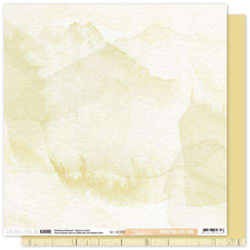 Papier Bienvenue chez moi 30,5 x 30,5 cm Jaune Paille