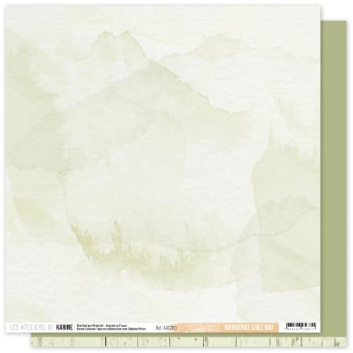 Papier Bienvenue chez moi 30,5 x 30,5 cm Vert Olive