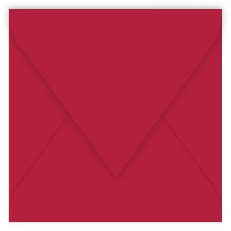Pollen - 20 enveloppes carrées 12 x 12 cm - Rouge groseille