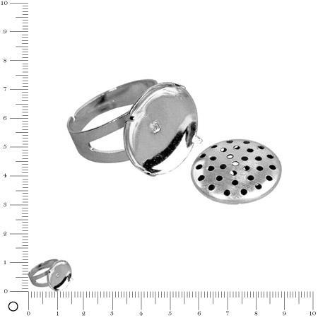 Bague tamis - Ø 15 mm - Argenté vieilli