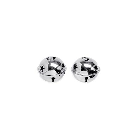 Grelot en métal - Argent - 6 cm