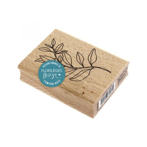 Tampon bois Feuillage souple - 6 x 8 cm