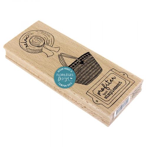 Tampon bois Panoplie champêtre - 6 x 15 cm