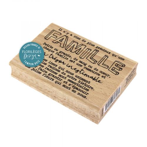 Tampon bois Trésor inestimable - 10 x 7 cm