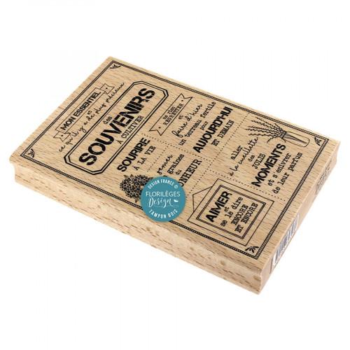 Tampon bois Souvenirs à cultiver 10 x 15 cm