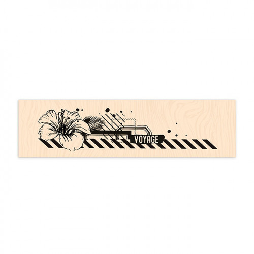 Tampon bois Air Mail - 15 x 4 cm