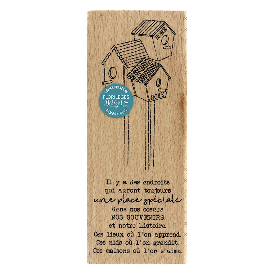 Tampon bois Une place spéciale - 6 x 15 cm