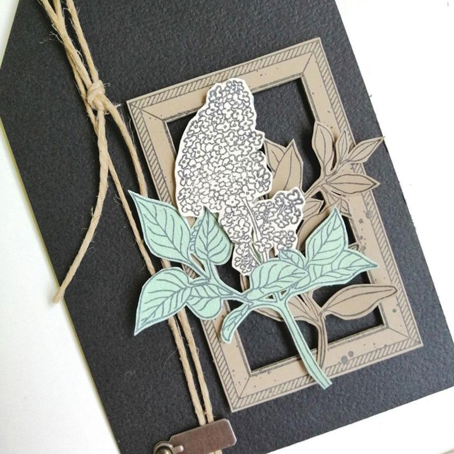 Tampon bois Parfum de lilas - 8 x 10 cm