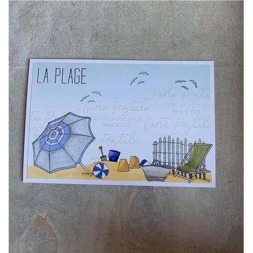 Tampons transparents La plage