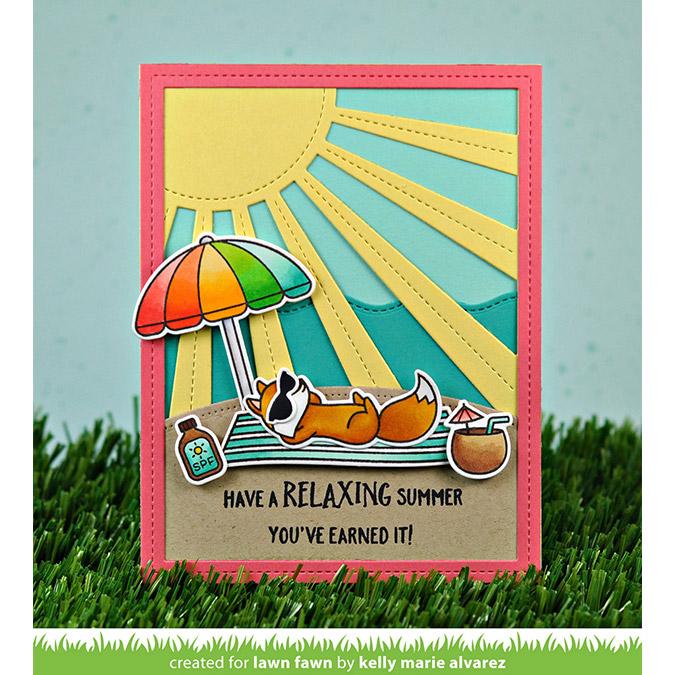 Die Set Fond Rayons du soleil