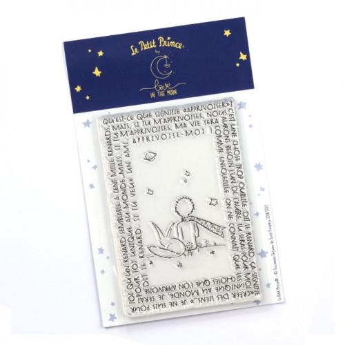 Tampon transparent Le Petit Prince : Apprivoise-moi