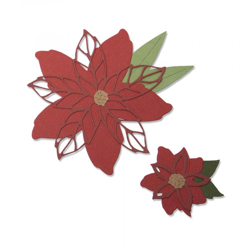 Thinlits Die Set Poinsettia - 8 pcs