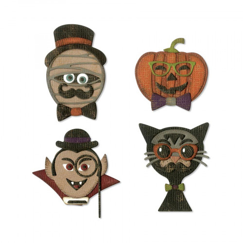 Thinlits Die Set Hipsters halloweenesques - 10 pcs