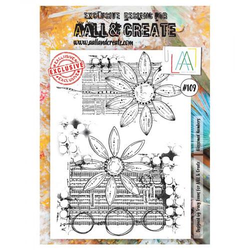 Tampons transparents #109 Chiffres fleuris