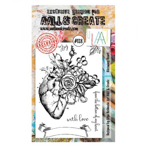 Tampons transparents #138 Cœur fleuri