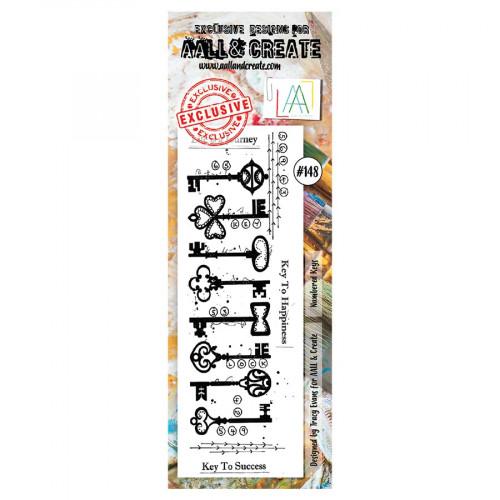 Tampon transparent #148 Clés numérotées