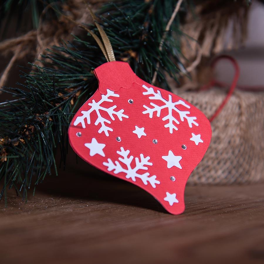 Thinlits Die Set Boules de Noël complexes - 3 pcs