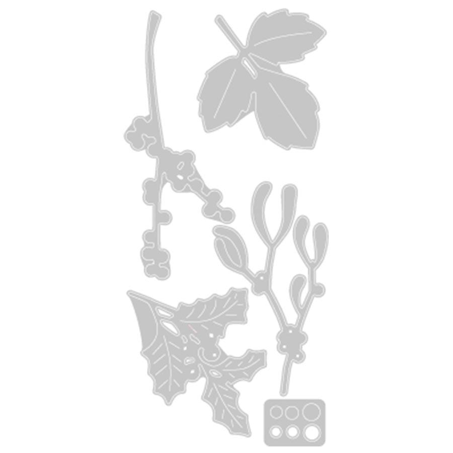Thinlits Die Set Feuillages hivernaux - 5 pcs