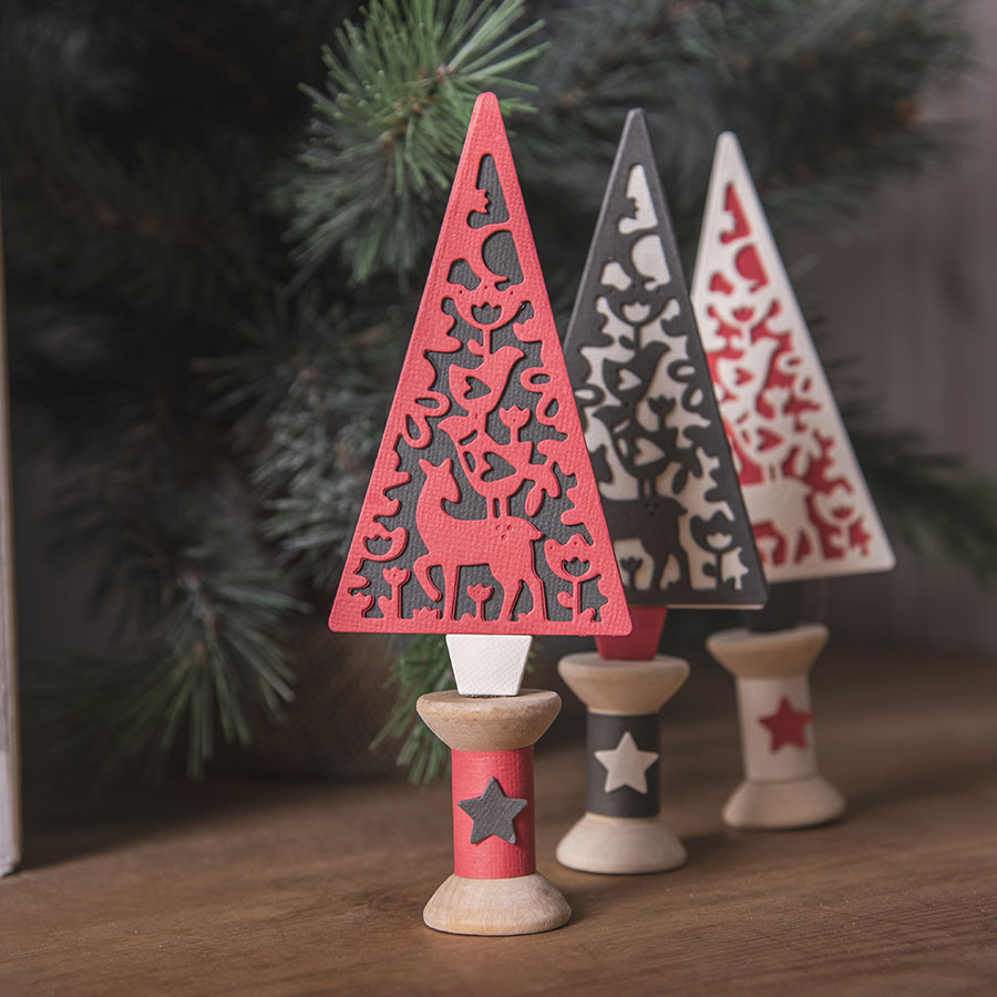 Thinlits Die Set Sapin Folk - 4 pcs