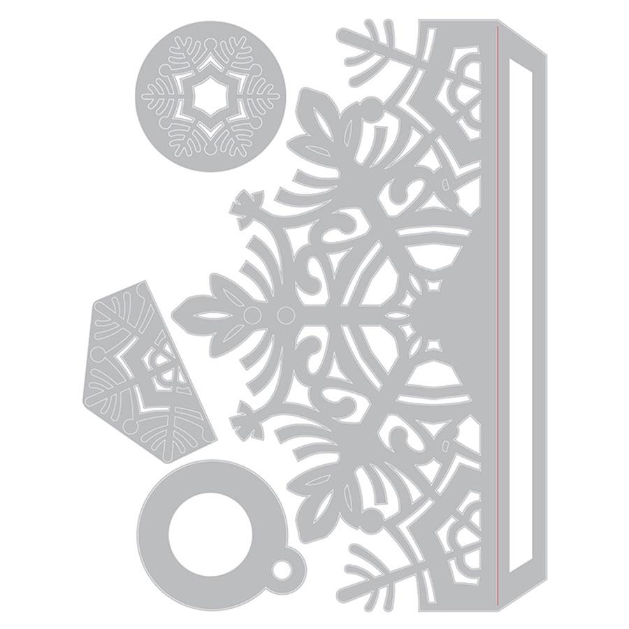 Thinlits Die Set Tour de carte Flocon de neige - 4 pcs