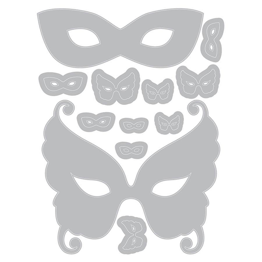 Thinlits Die Set Masques - 12 pcs