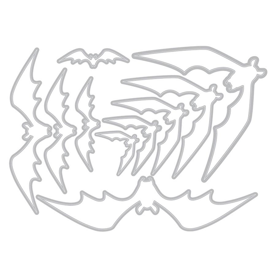 Thinlits Die Set chauves-souris - 10 pcs