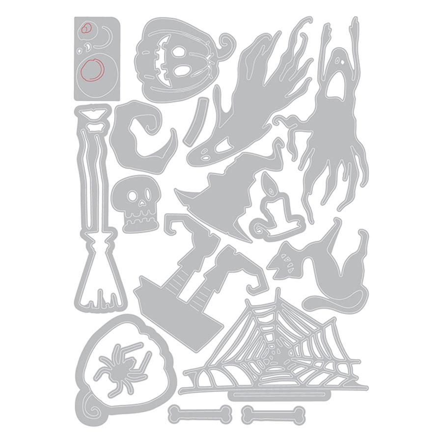 Thinlits Die Set Ce qui fait peur - 17 pcs