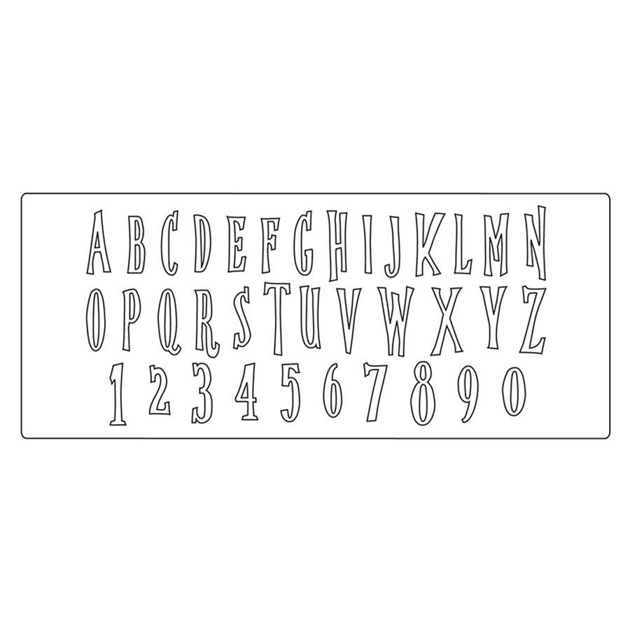 Bigz XL Die Alphabet Handmade