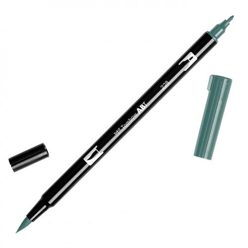 Feutre Tombow double-pointe Vert gris 228