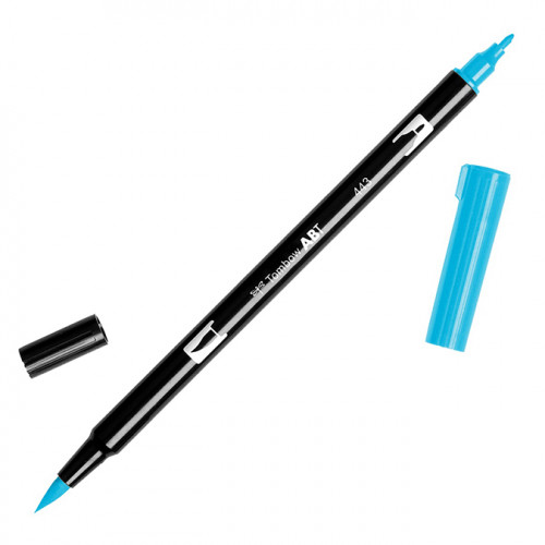 Feutre Tombow double-pointe Turquoise 443
