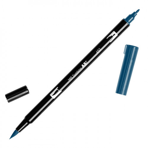 Feutre Tombow double-pointe Bleu 452