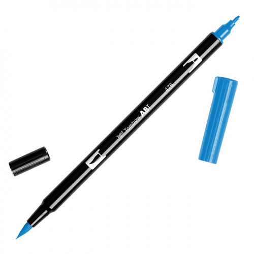Feutre Tombow double-pointe Cyan 476