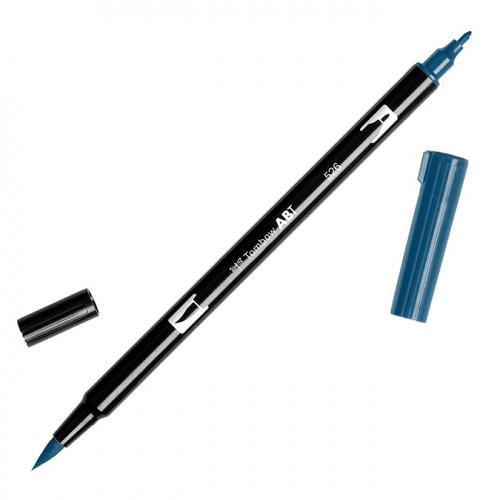 Feutre Tombow double-pointe Bleu véritable 526
