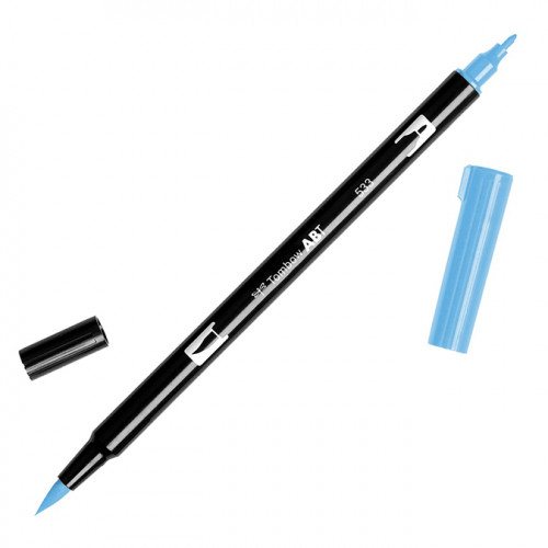 Feutre Tombow double-pointe Bleu paon 533