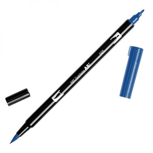 Feutre Tombow double-pointe Bleu profond 565