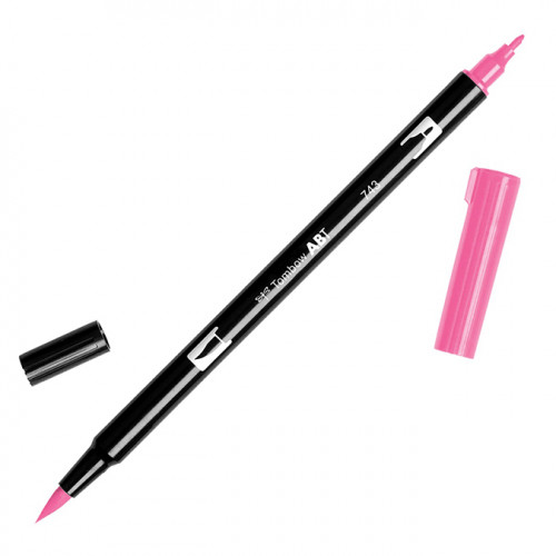 Feutre Tombow double-pointe Rose chaud 743