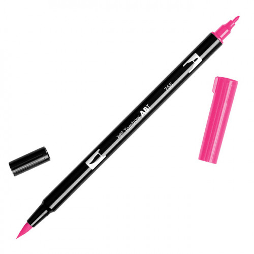Feutre Tombow double-pointe Rouge rubis 755